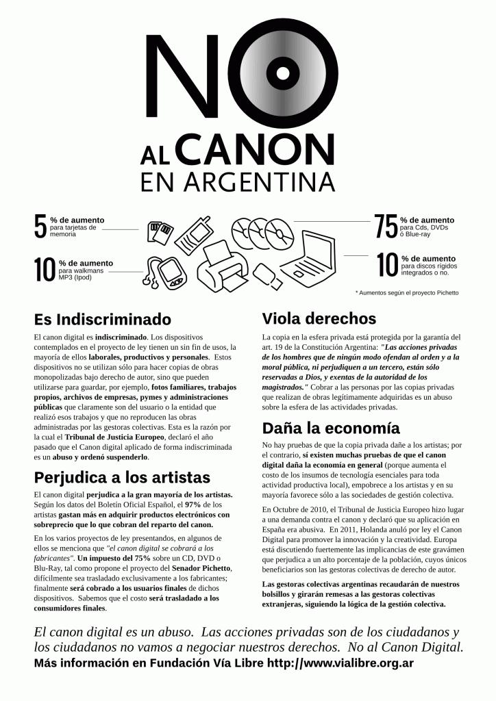 No al Canon en Argentina